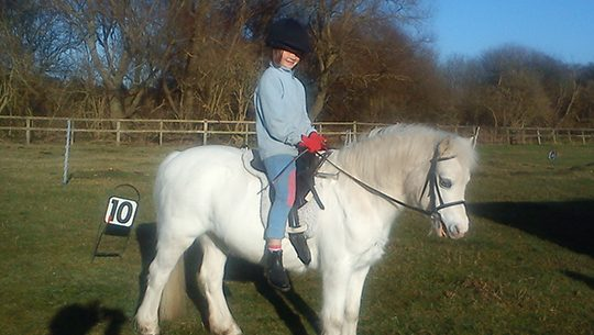 Rehomed pony Magic is a true part of the family